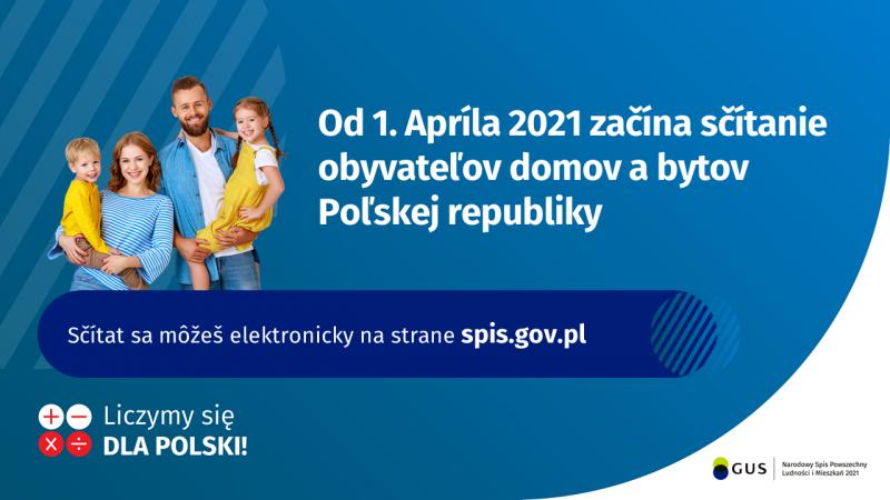 Narodowy Spis Powszechny Ludności i Mieszkań 2021 baner dla mniejszości słowackiej