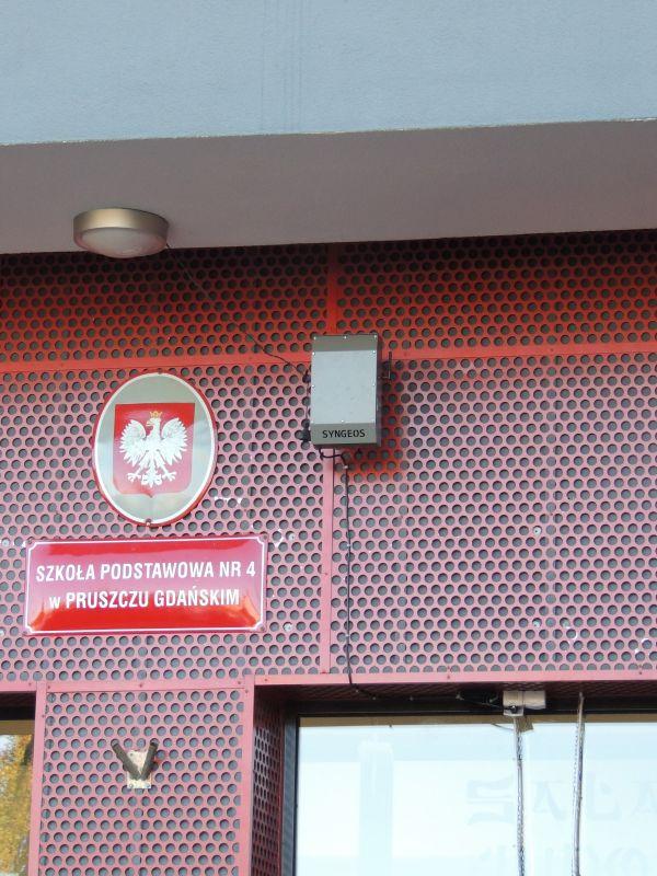Czujniki jakości powietrza w mieście Pruszcz Gdański